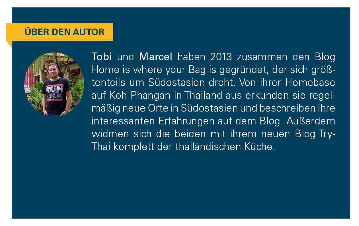 Kurzbeschreibung der Autoren Tobi und Marcel.