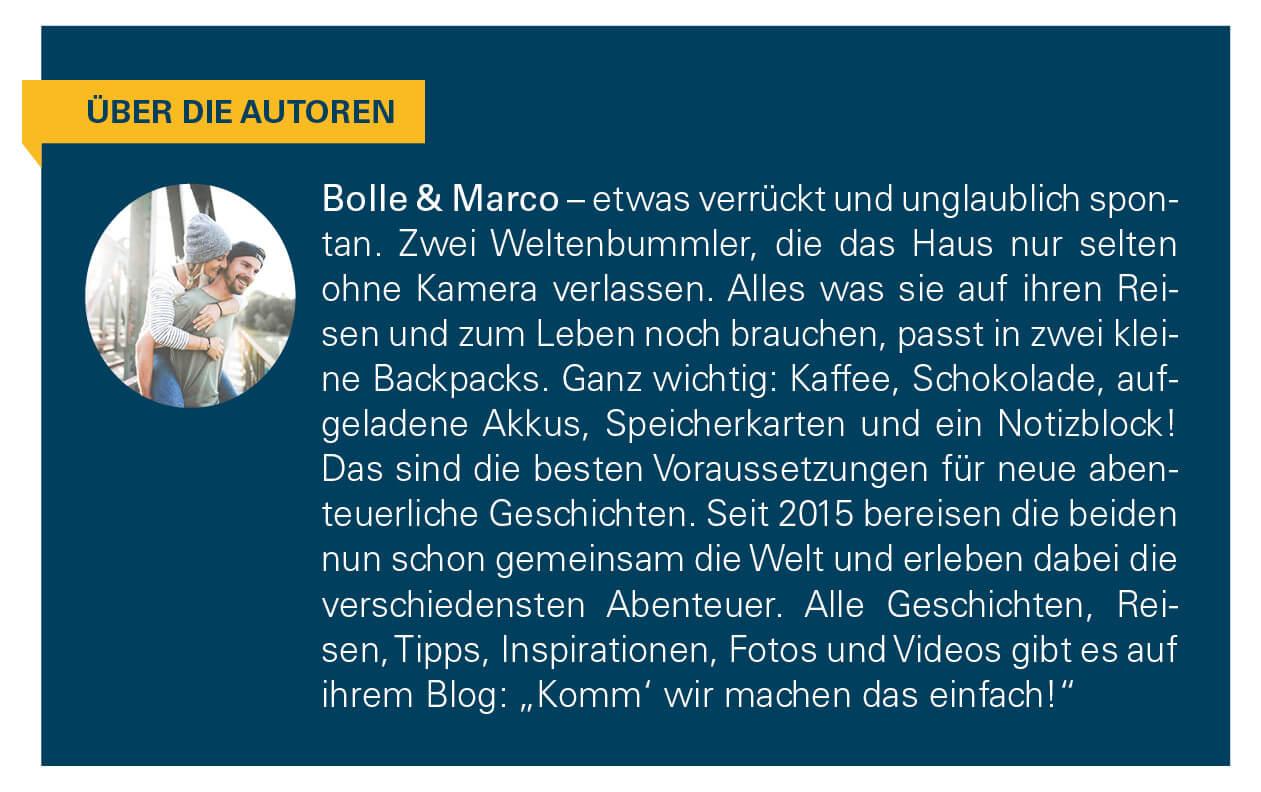 Kurzbeschreibung der Autoren Bolle und Marco.