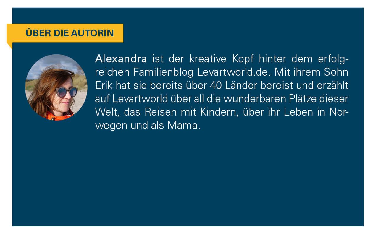 Kurzbeschreibung der Autorin Alexandra.