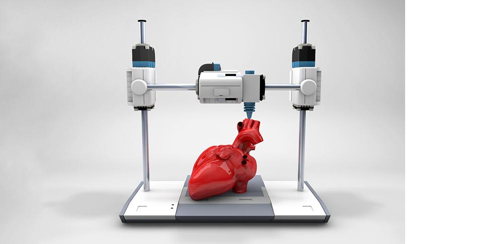 3D-Drucker druckt menschliches Herz